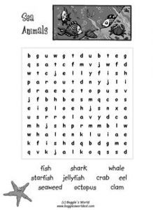 Animal Word Search Puzzles