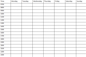Daily Study Planner Template