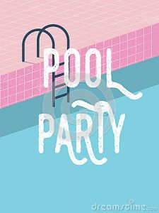 Blank Pool Party Invitations