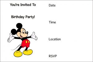 Mickey Mouse Pool Party Invitations