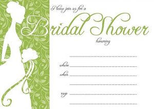Pool Party Bridal Shower Invitations