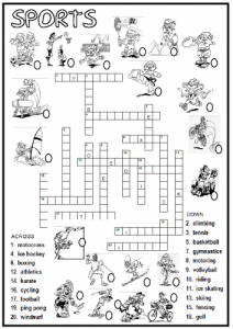 Hard Sports Crossword Puzzles