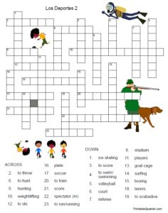 Sports Crossword Puzzles Answers