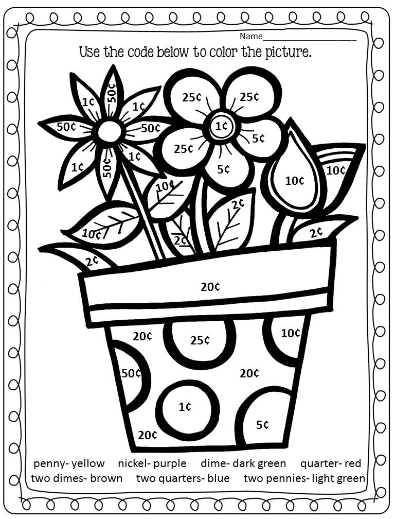 22 Fun-to-do Division Color by Number Printables   Kitty ...