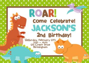 Dinosaur Birthday Invitation Ideas