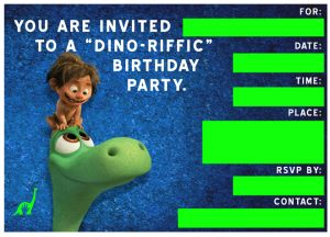 Dinosaur Birthday Invitation Wording