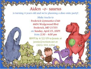 Do It Yourself Dinosaur Birthday Invitations