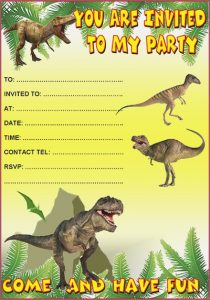 Free Printable Dinosaur Birthday Party Invitations