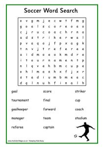 Football Word Searches to Print