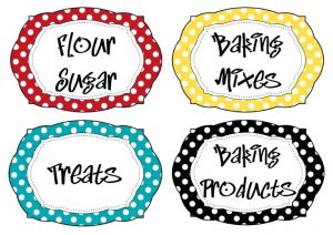 Pantry Labels Stickers