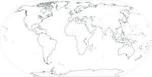Blank Continent Map