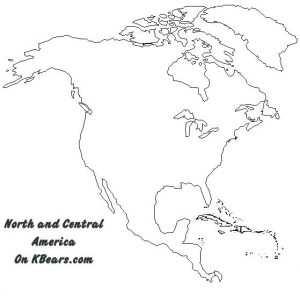 Blank Map North American Continent