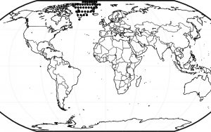 Continents and Oceans Blank Map