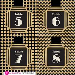 Free Printable Gatsby Table Numbers