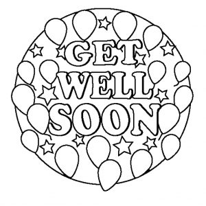 Free Printable Get Well Cards For Kids to Color