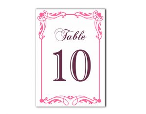 Free Printable Table Number Cards