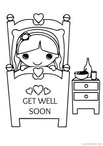 Get Well Soon Printable Coloring Cards