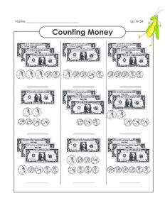 Math Worksheets with Money
