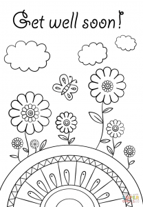 Printable Get Well Soon Cards To Color