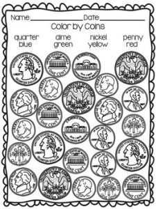 Recognizing Coins Worksheets