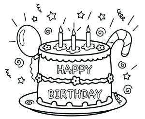 Birthday Card Coloring Pages
