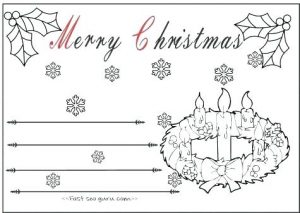 Christmas Cards Coloring Free Printables