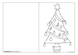 Christmas Cards to Color and Print