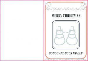 Christmas Cards to Color for Adults