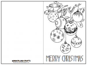 Color In Christmas Cards