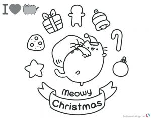 Free Coloring Christmas Cards