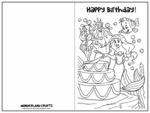 Free Printable Coloring Birthday Cards for Adults