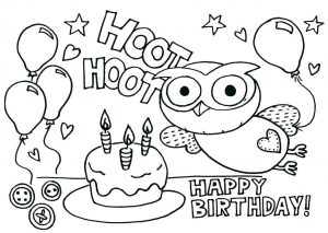 Happy Birthday Card Coloring Pages