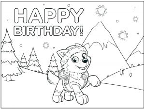 Happy Birthday Card to Color