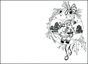 Merry Christmas Card Coloring Pages