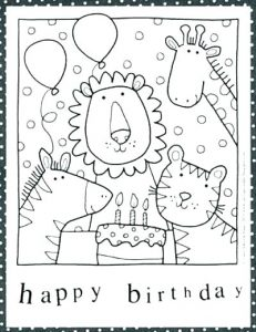Printable Birthday Coloring Cards