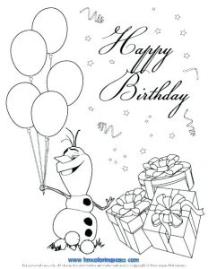Printable Colorable Birthday Cards