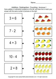 Addition and Subtraction Worksheets for Grade 2
