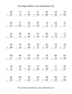 Easy Addition and Subtraction Worksheets