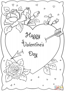 Free Printable Valentine's Day Card Coloring Pages