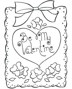 Printable Coloring Pages Valentine's Day Cards