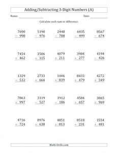 Relationship between Addition and Subtraction Worksheets