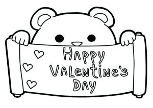 Valentine's Day Card Printable Coloring Pages