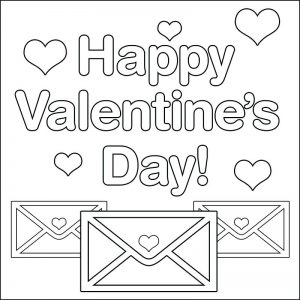 Valentine's Day Cards Printable Coloring