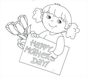 Children's Mother's Day Cards to Color