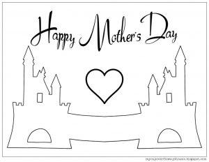 Color Your Own Mother's Day Card