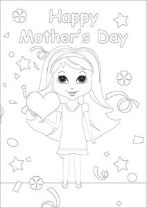 Color in Mother's Day Card