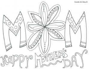 Coloring Pages for Mother's Day Cards