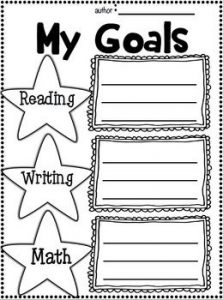 First Day of School Goal Setting Worksheet