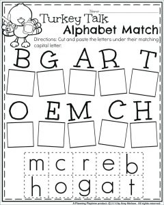 Free Kindergarten Letter Recognition Worksheets