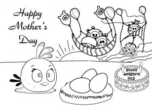 Free Mother's Day Cards to Color